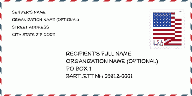 bartlett nh zip code